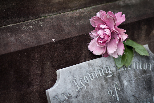 flowers-grave